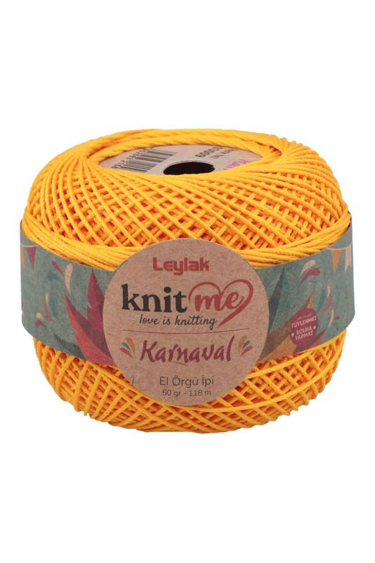 LEYLAK - Knit me Karnaval El Örgü İpi Koyu Sarı 03009 50 gr.