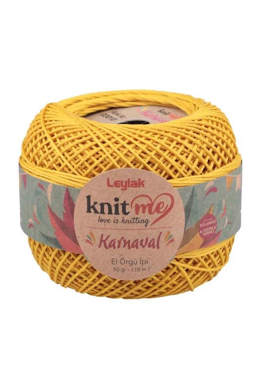 LEYLAK - Knit me Karnaval El Örgü İpi Sarı 03010 50 gr.