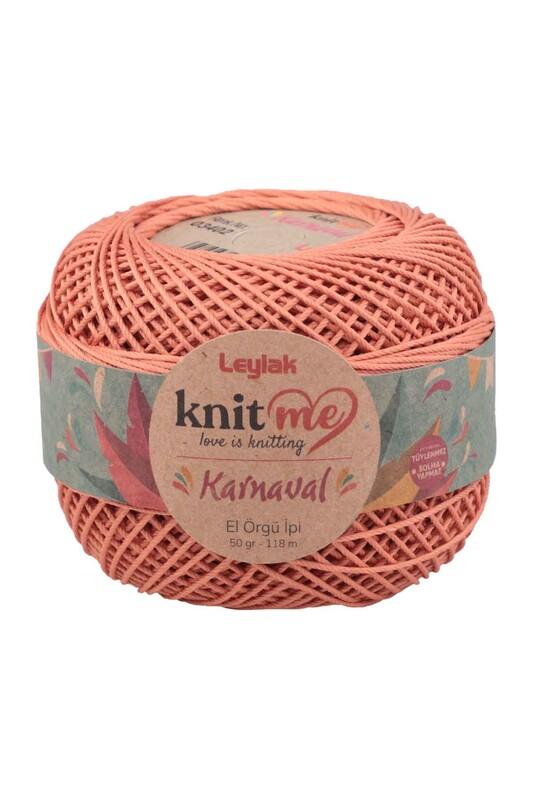 LEYLAK - Knit me Karnaval El Örgü İpi Koyu Somon 03402 50 gr.