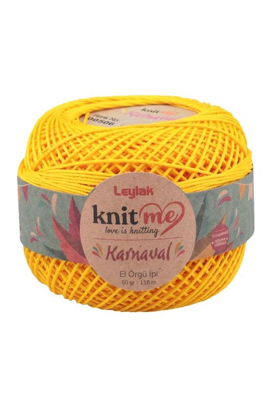 LEYLAK - Knit me Karnaval El Örgü İpi Sarı 00506 50 gr.