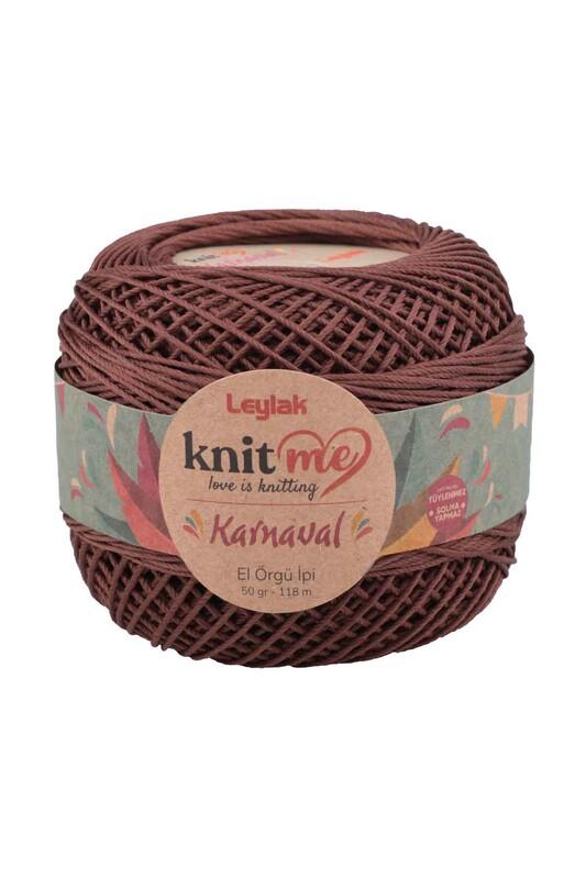 LEYLAK - Knit me Karnaval El Örgü İpi Koyu Kahverengi 00080 50 gr.