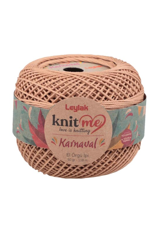 LEYLAK - Knit me Karnaval El Örgü İpi Koyu Bej 01779 50 gr.