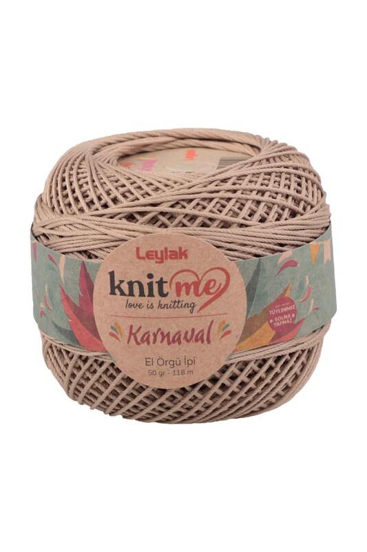 LEYLAK - Knit me Karnaval El Örgü İpi Bej 00088 50 gr.