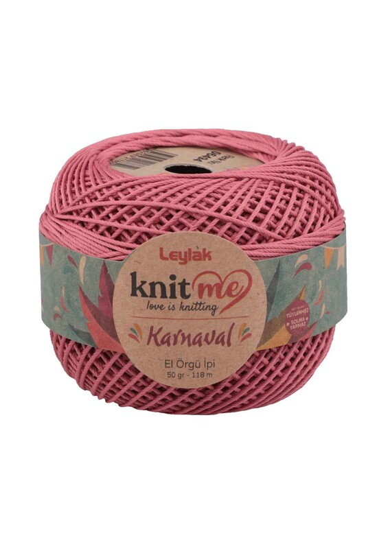LEYLAK - Knit me Karnaval El Örgü İpi Gül Kurusu 06494 50 gr.