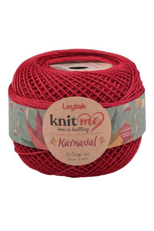 LEYLAK - Knit me Karnaval El Örgü İpi Koyu Kırmızı 04015 50 gr.