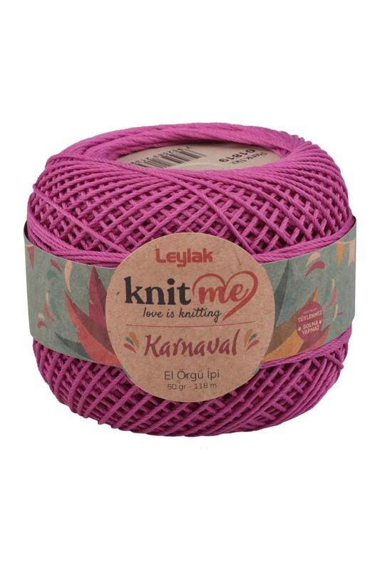 LEYLAK - Knit me Karnaval El Örgü İpi Koyu Mor 01819 50 gr.