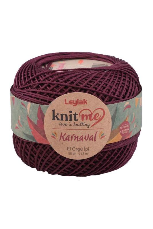 LEYLAK - Knit me Karnaval El Örgü İpi Patlican Moru 01851 50 gr.