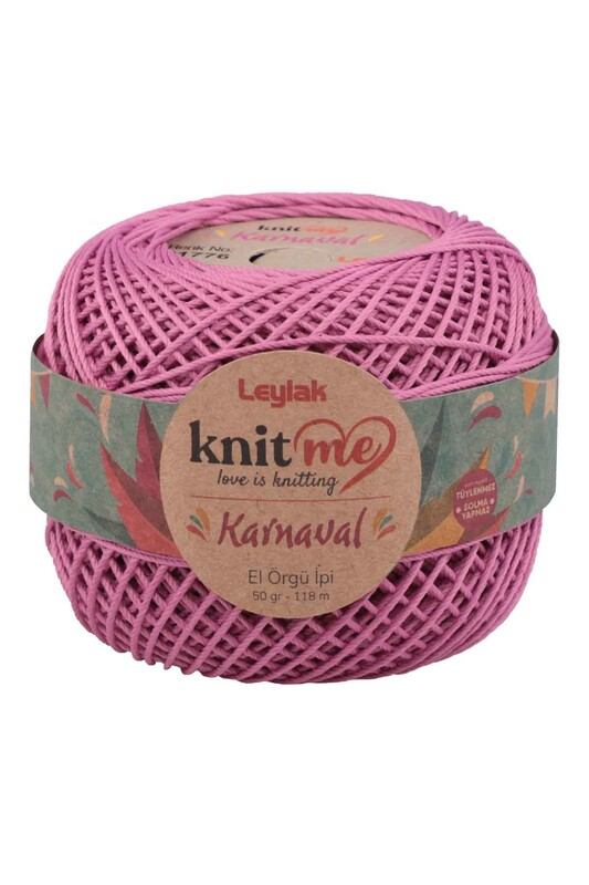 LEYLAK - Knit me Karnaval El Örgü İpi Gül Kurusu 01776 50 gr.