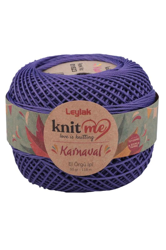 LEYLAK - Knit me Karnaval El Örgü İpi Koyu Mor 01823 50 gr.