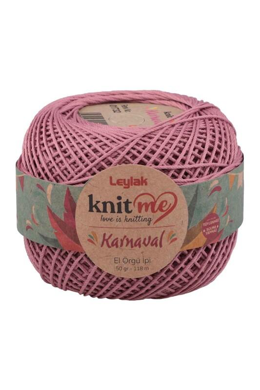 LEYLAK - Knit me Karnaval El Örgü İpi Gül Kurusu 01732 50 gr.