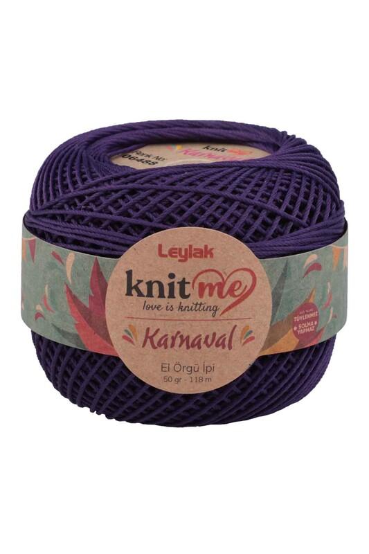 LEYLAK - Knit me Karnaval El Örgü İpi Patlican Moru 06488 50 gr.