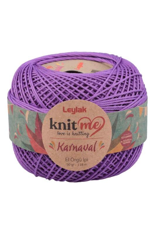 LEYLAK - Knit me Karnaval El Örgü İpi Mor 08034 50 gr.