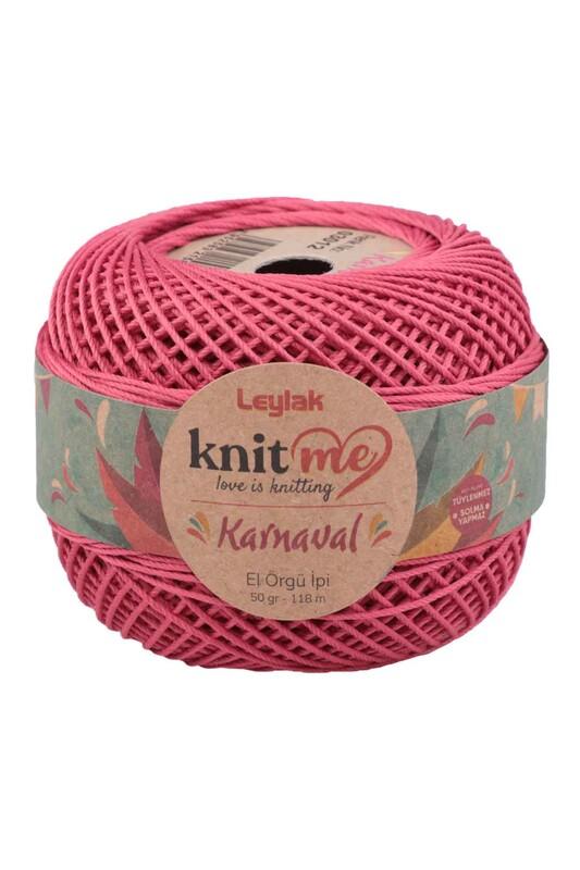 LEYLAK - Knit me Karnaval El Örgü İpi Pembe 03012 50 gr.