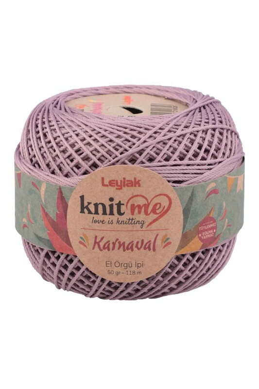 LEYLAK - Knit me Karnaval El Örgü İpi Lila 03403 50 gr.