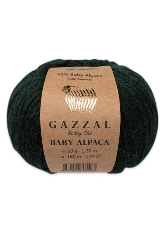 Gazzal - Gazzal Baby Alpaca El Örgü İpi 50 gr | Koyu Yeşil 46011