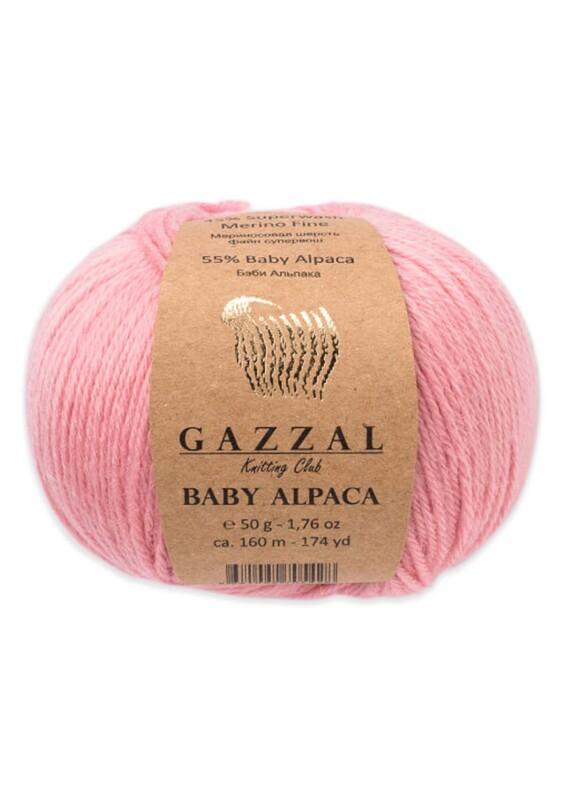 Gazzal - Gazzal Baby Alpaca El Örgü İpi 50 gr   Pembe 46007