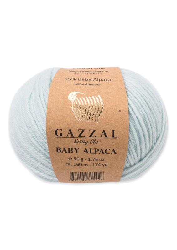 Gazzal - Gazzal Baby Alpaca El Örgü İpi 50 gr | Bebe Mavi 46006