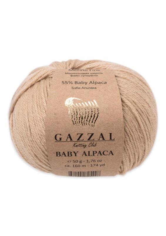 Gazzal - Gazzal Baby Alpaca El Örgü İpi 50 gr | Bej 46005
