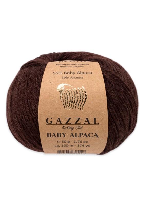Gazzal - Gazzal Baby Alpaca El Örgü İpi 50 gr | Kahverengi 46004