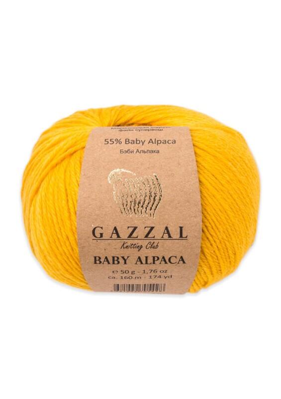Gazzal - Gazzal Baby Alpaca El Örgü İpi 50 gr | Hardal Sarısı 46003