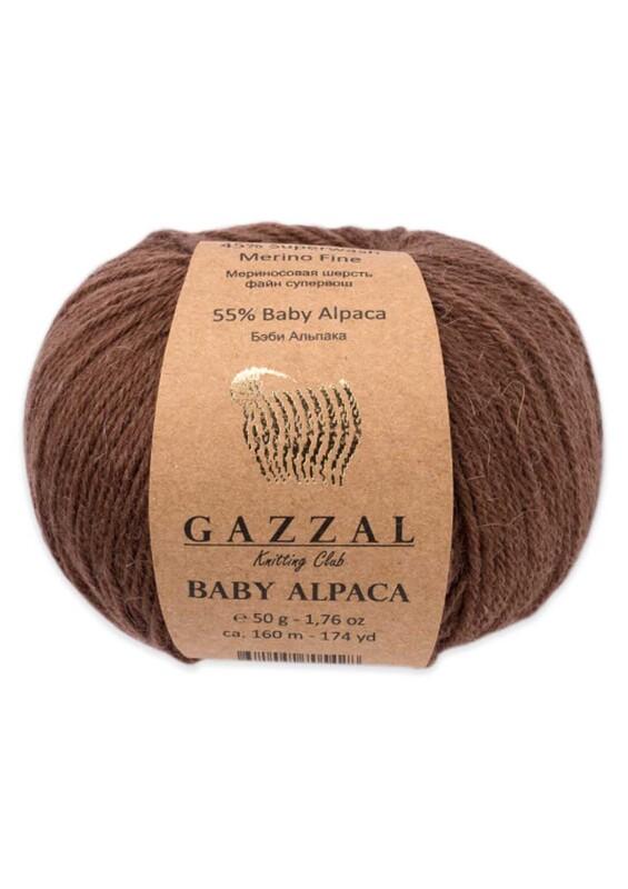 Gazzal - Gazzal Baby Alpaca El Örgü İpi 50 gr | Kahverengi 46002