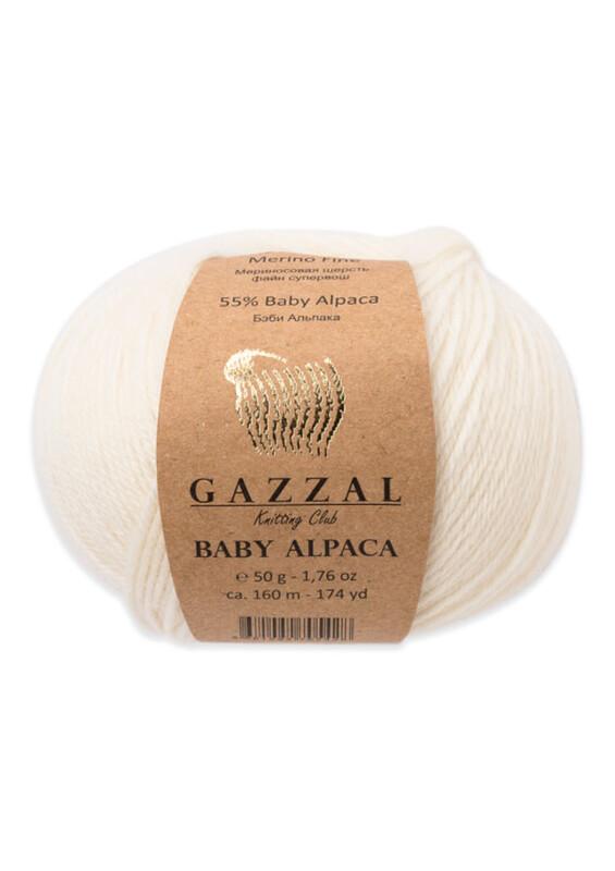 Gazzal - Gazzal Baby Alpaca El Örgü İpi 50 gr   Krem 46001