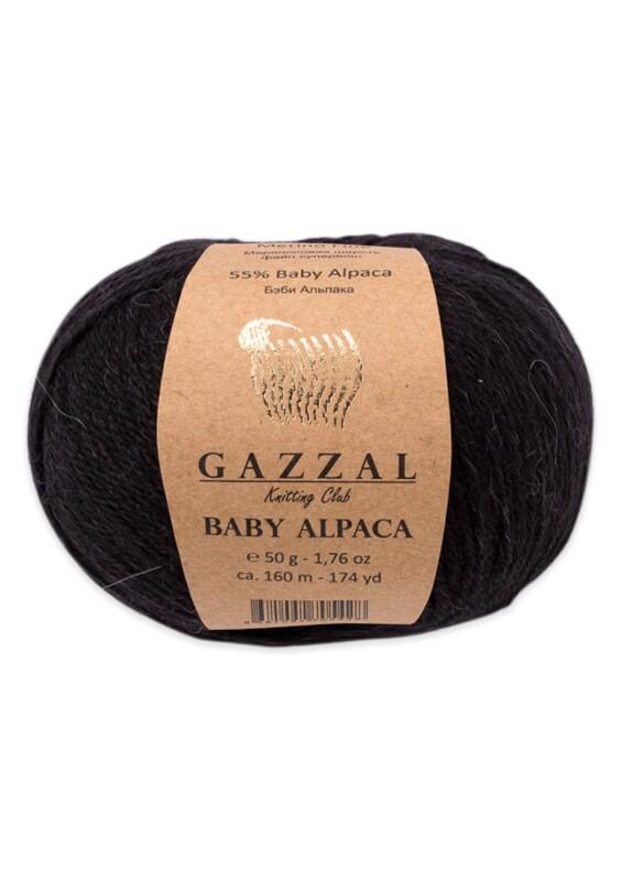 Gazzal - Gazzal Baby Alpaca El Örgü İpi 50 gr | Siyah 46000