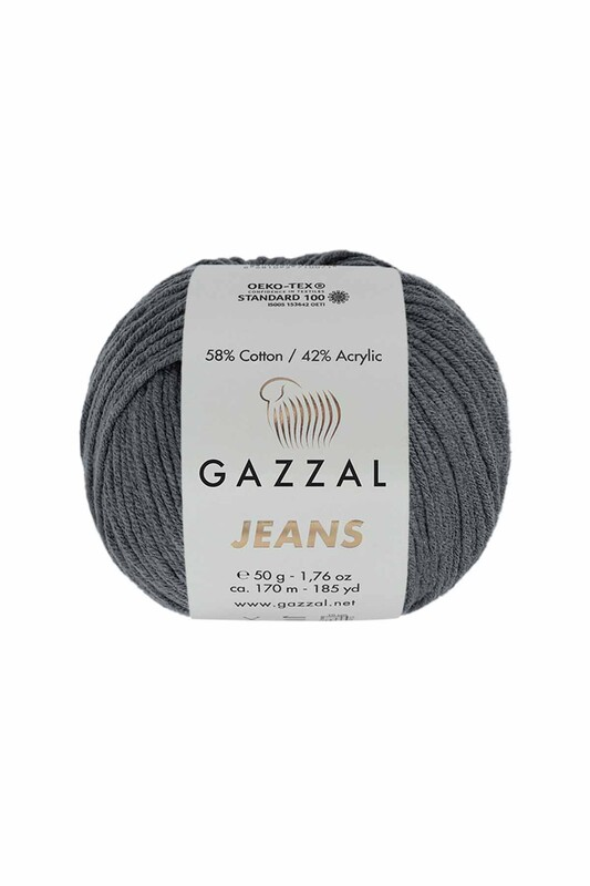 Gazzal - Gazzal Jeans El Örgü İpi   Füme 1140