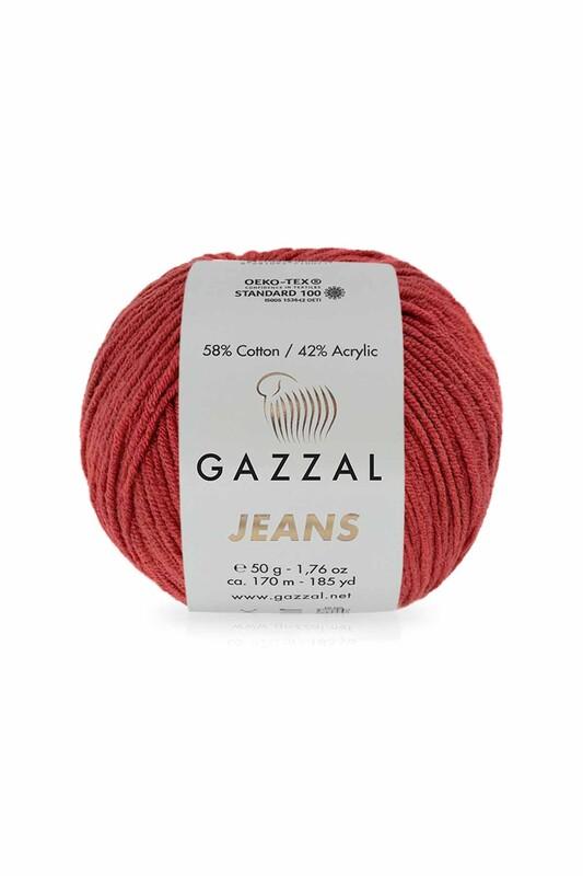 Gazzal - Gazzal Jeans El Örgü İpi   Kırmızı 1137