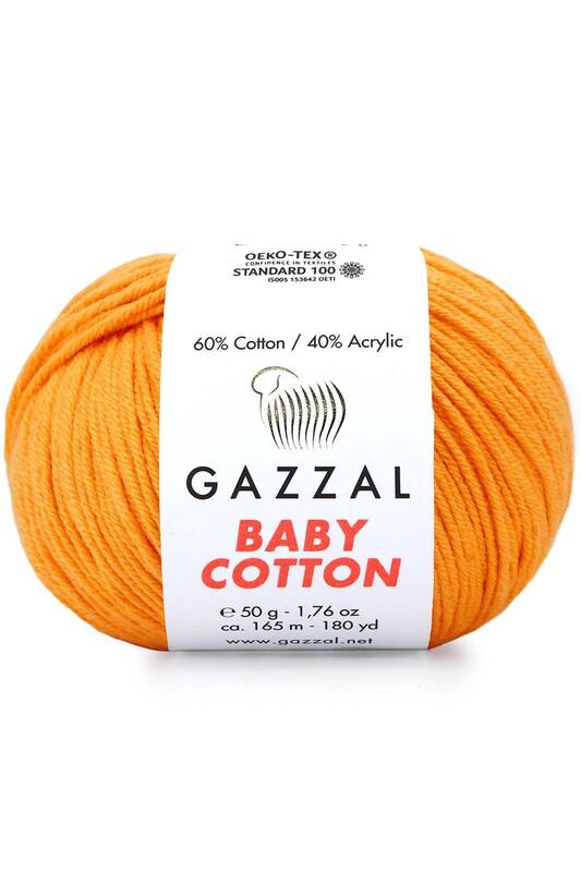 Gazzal - Gazzal Baby Cotton El Örgü İpi Açık Turuncu 3416