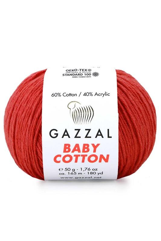 Gazzal - Gazzal Baby Cotton El Örgü İpi Kırmızı 3418