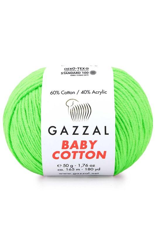 Gazzal - Gazzal Baby Cotton El Örgü İpi Fıstık Yeşil 3427