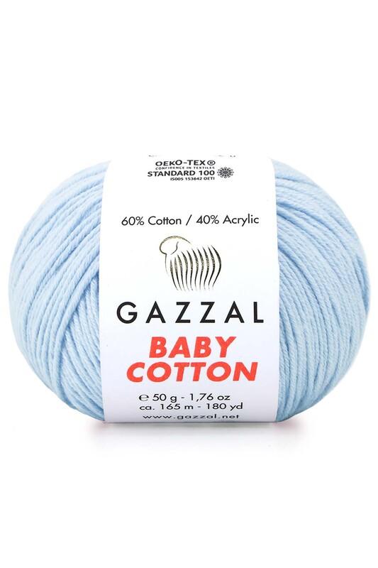 Gazzal - Gazzal Baby Cotton El Örgü İpi Bebe Mavi 3429