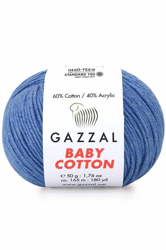 Gazzal - Gazzal Baby Cotton El Örgü İpi Koyu Mavi 3431