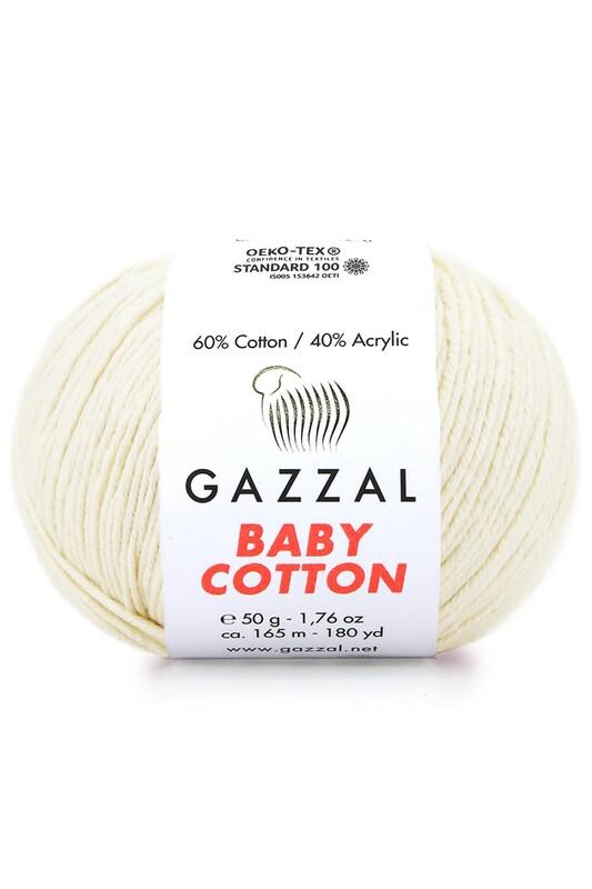 Gazzal - Gazzal Baby Cotton El Örgü İpi Bej 3437