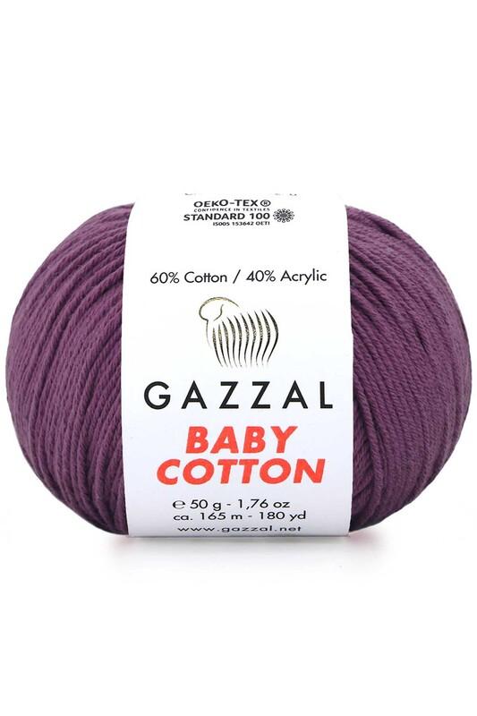 Gazzal - Gazzal Baby Cotton El Örgü İpi Mürdüm 3441