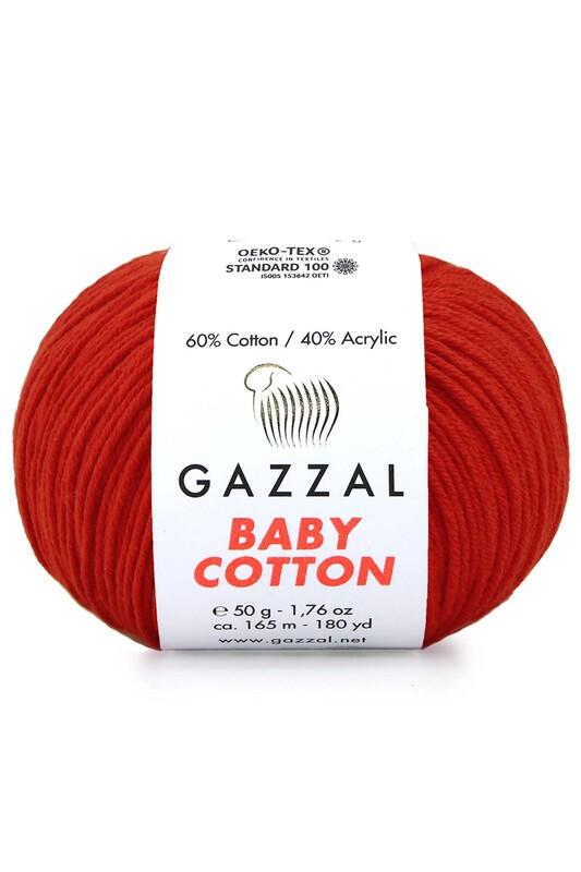 Gazzal - Gazzal Baby Cotton El Örgü İpi Kırmızı 3443