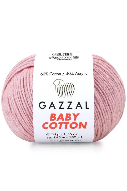 Gazzal - Gazzal Baby Cotton El Örgü İpi Pembe 3444