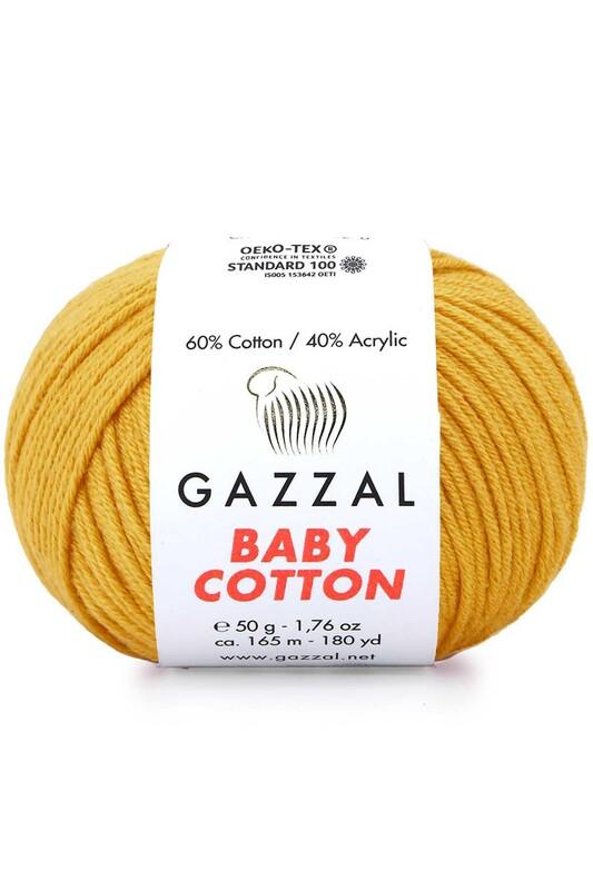 Gazzal - Gazzal Baby Cotton El Örgü İpi Bal Köpüğü 3447