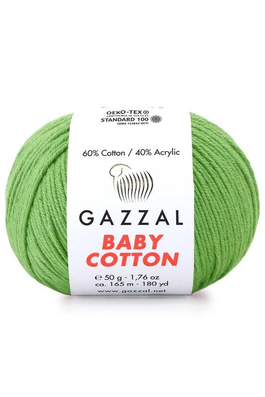 Gazzal - Gazzal Baby Cotton El Örgü İpi Yeşil 3448