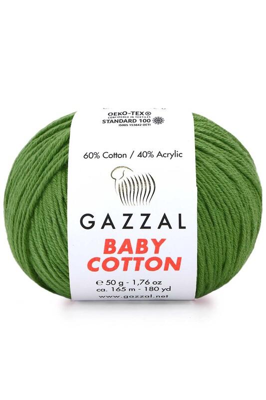 Gazzal - Gazzal Baby Cotton El Örgü İpi Yeşil 3449