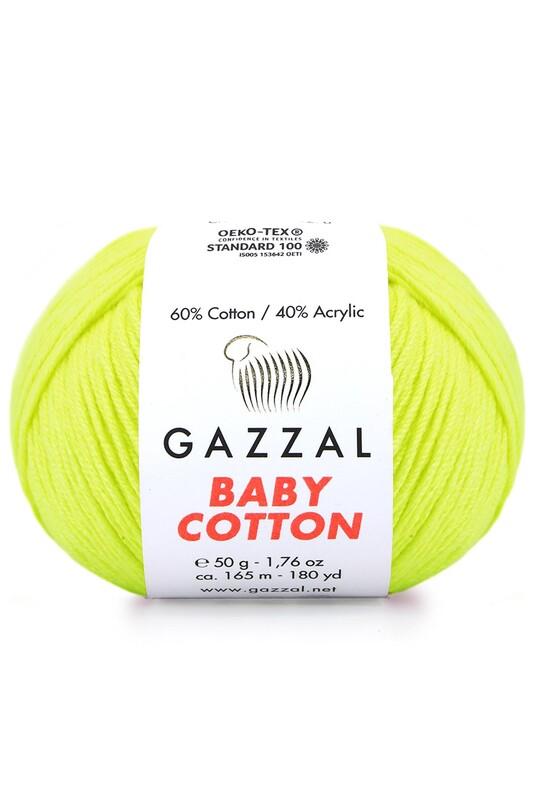 Gazzal - Gazzal Baby Cotton El Örgü İpi Sarı 3462