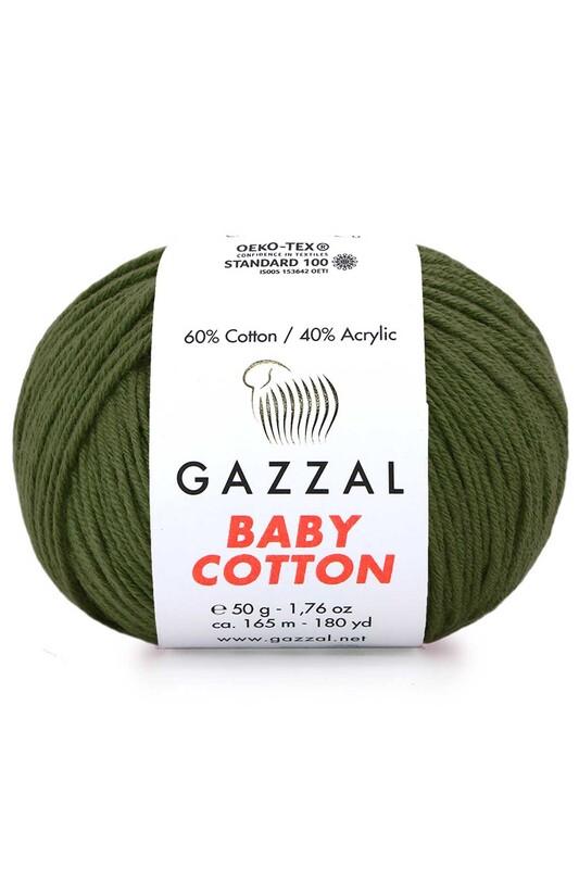 Gazzal - Gazzal Baby Cotton El Örgü İpi Kamuflaj 3463