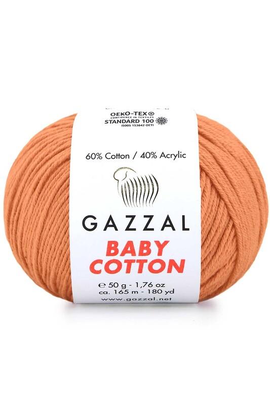 Gazzal - Gazzal Baby Cotton El Örgü İpi Koyu Yavruağzı 3465