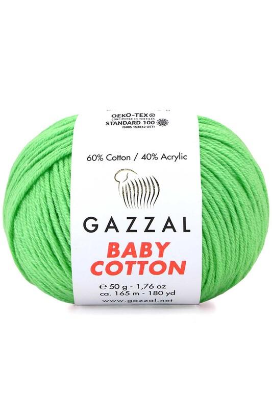 Gazzal - Gazzal Baby Cotton El Örgü İpi Yeşil 3466
