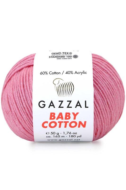 Gazzal - Gazzal Baby Cotton El Örgü İpi Pembe 3468