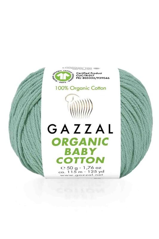 Gazzal - Gazzal Organic Baby Cotton El Örgü İpi Yeşil 422