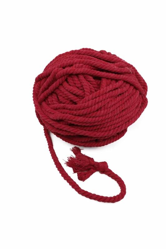 SİMİSSO - Pamuk Halat İpi 10 mm | Kırmızı