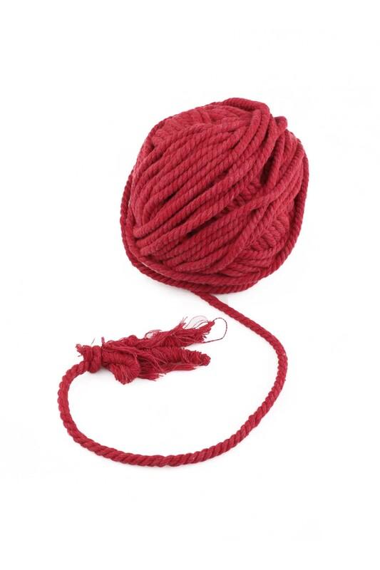 SİMİSSO - Pamuk Halat İpi 6 mm | Kırmızı
