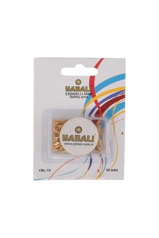 YABALI - Yabalı Çengelli İğne Gold 50 Adet YBL-19